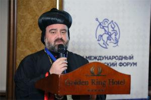 Выступление Представителя Сиро-яковитской православной церкви Сирии Мар Сельван Бедрос Аннема на V Международном Христианском Форуме