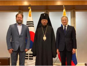Архиепископ Корейский Феофан встретился с Послом Южной Кореи в России