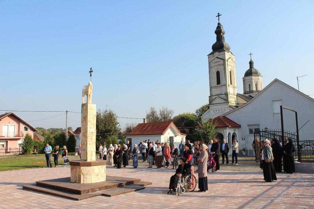 Освящен первый храм, посвященный мученикам Ясеновацких.